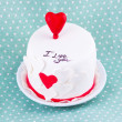 Stock Photo: Cake for valentine's day