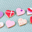 Stock Photo: Heart shaped cookies for valentine's day