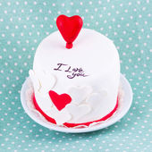 Gâteau pour la Saint-Valentin — Photo