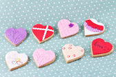 Heart shaped cookies for valentine's day — Stok fotoğraf