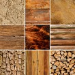 Stock Photo: Wood textures collage