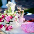 Wedding ceremony outside, champagne — Stock Photo #25072577