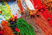 Bright beads. Decorative ornaments for women — Stock Photo