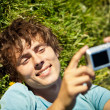 Taking a picture of themselves with a camera  — Stock Photo