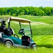 Golf club car — Stock Photo