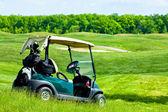 Golf club car — Stock Photo