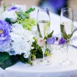 Stock Photo: Weddimg glasses with champagne or vine