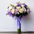 Stock Photo: Bouquet of beautiful wedding flowers