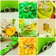 Stock Photo: Collage of beautiful weding rings