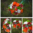 Stock Photo: Collage of wedding flowers