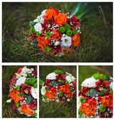 Collage of wedding flowers — 图库照片