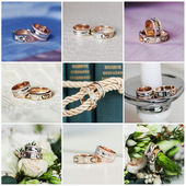 Collage of wedding rings — Stock Photo