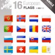 Angle Stickers - European Flags — Stock Vector #12380950