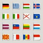 Label - European Flags — Stock Vector