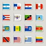 etykieta - flagi amerykańskiej — Wektor stockowy