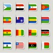 Label - African Flags - Stock Vector