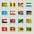 Royalty-Free Stock ベクターイメージ: Label - African Flags