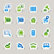 Papercut -  Real estate icons - Imagen vectorial