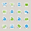 Papercut - Shopping icons — Stock Vector #14874835