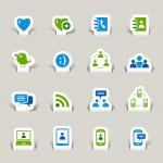 Papercut - Social media icons — Stock Vector #14874841