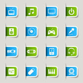 Label - Media Icons — Stock Vector