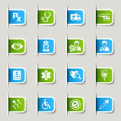 Label - Medical icons — Vector de stock