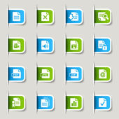 Label - File format icons — Stock Vector