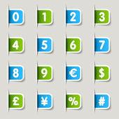 Label - Numbers — Stock Vector