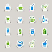 Papercut - Drink Icons — Stock Vector
