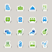 Papercut - Hotel Icons — Stock Vector
