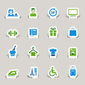 Papercut - Hotel Icons — Stock Vector
