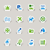 Papercut - Hotel Icons — Vector de stock