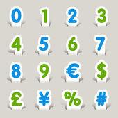 Papercut - Numbers — Stock Vector