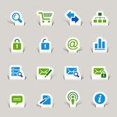 Papercut-网站和互联网的图标 — 图库矢量图片