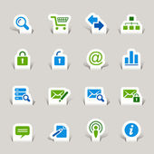 Papercut - Website and Internet Icons — Stock Vector