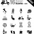 Royalty-Free Stock Vector Image: Basic - Italian icons