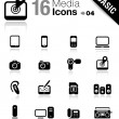 Basic - Media Icons - Stock Vector
