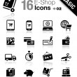 Basic - Shopping icons — Stockvektor  #14967867
