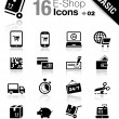 Stock Vector: Basic - Shopping icons