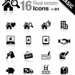 Basic - Real estate icons — Stock Vector #14967887