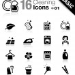 Basic - Cleaning Icons — Stock Vector