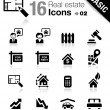 Basic - Real estate icons - Stockvectorbeeld