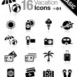 Basic - Vacation icons — 图库矢量图片
