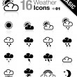 Basic - Weather icons - Stok Vektör