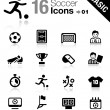 Stock Vector: Basic - Soccer Icons