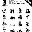 basic - vacation icons — Stock Vector