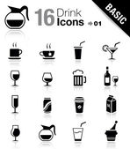 Basic - Drink Icons — Vector de stock