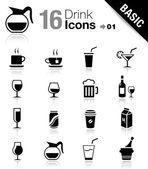 Basic - copa iconos — Vector de stock
