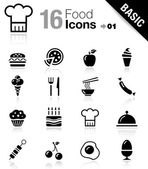 Basic - Food Icons — Stok Vektör