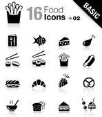 Basic - icônes de nourriture — Vecteur